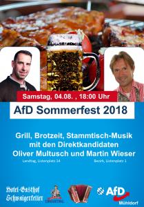 AfD Sommerfest 2018 @ Schwaigerkeller